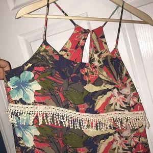 Peppermint sleeveless summer dress sz L